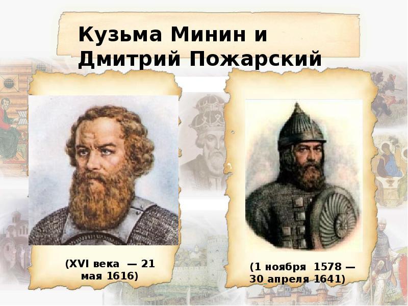 Дмитрий пожарский и козьма минин картинки